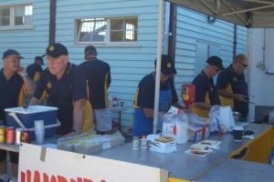 BBQ volunteers